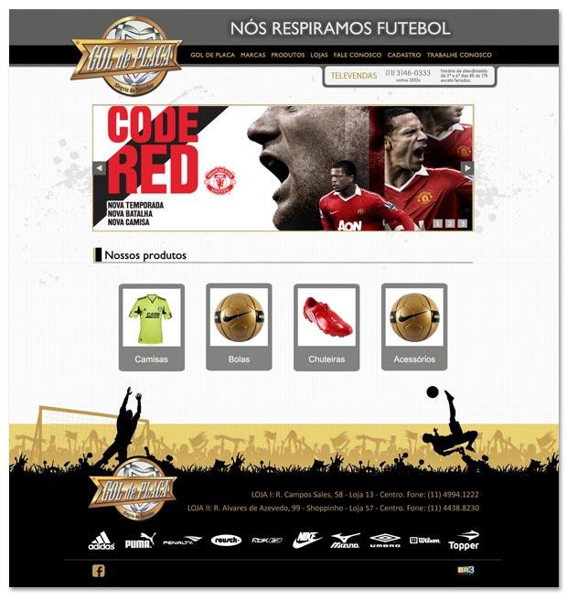 Proposta para site da loja Gol de Placa Br3 Site sites cases image