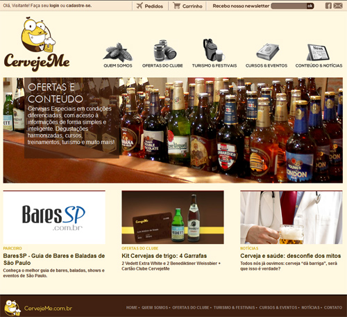 Portal CervejeMe Br3 Site sites cases image