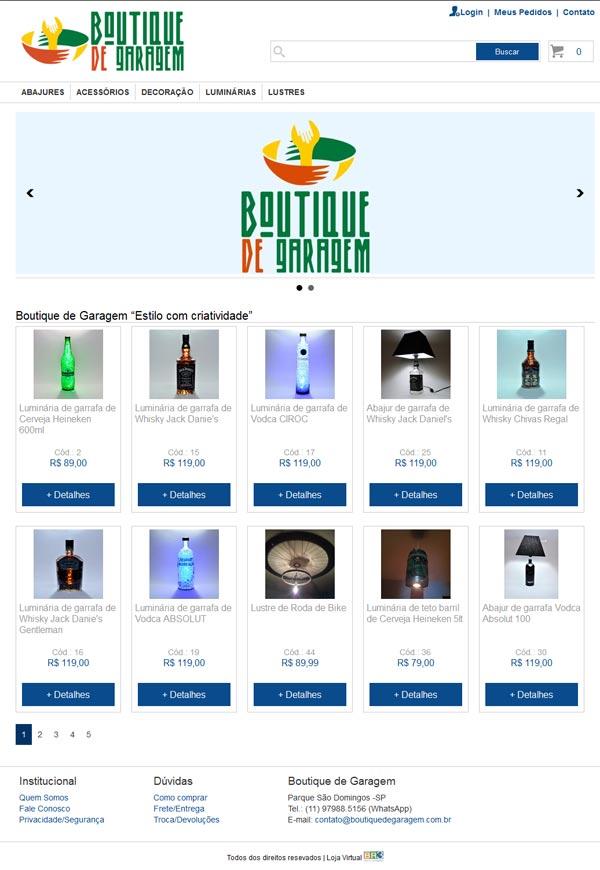 Loja Boutique de Garagem Br3 Site sites cases image