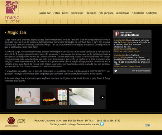 Novo site Magic Tan - Itaim