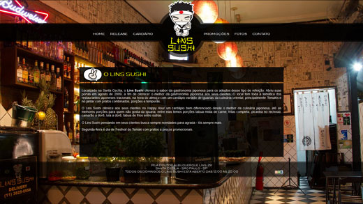 Site Lins Sushi
