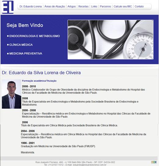 Site - Dr. Eduardo Lorena