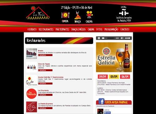 Site La Feria - Feria gastronômica e cultural espanhola