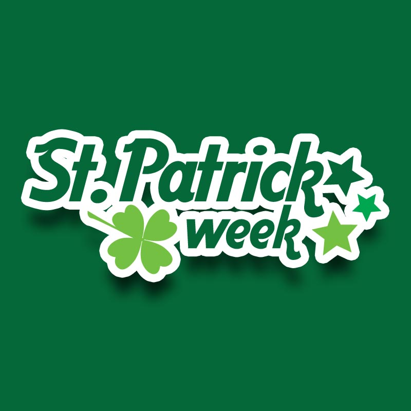 Identidade visual St. Patrick Week Br3 Site sites cases image