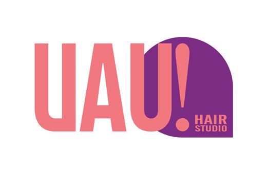 Criação de logotipo UAU! Hair Studios