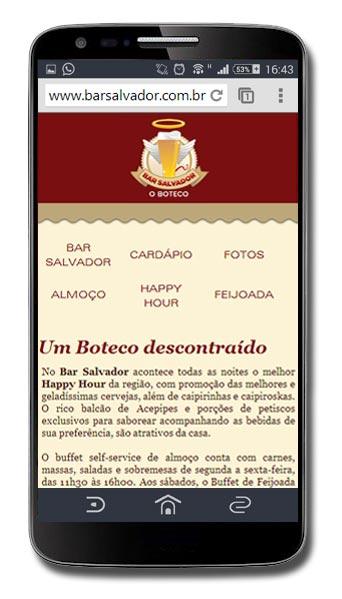 Site Mobile Bar Salvador