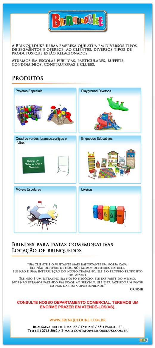 E-mail marketing Brinqueduke Br3 Site sites cases image