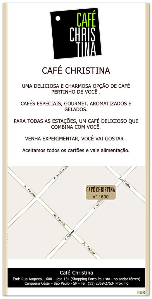 E-mail marketing Café Christina