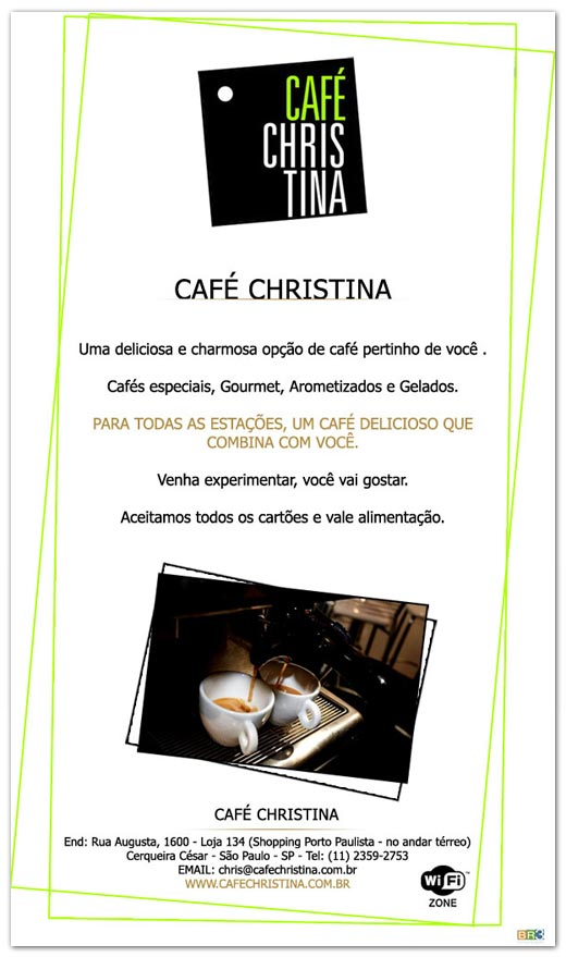 E-mail marketing Café Christina