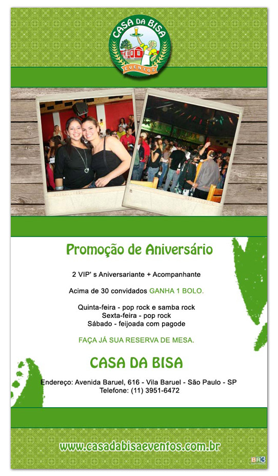 E-mail Marketing Casa da Bisa