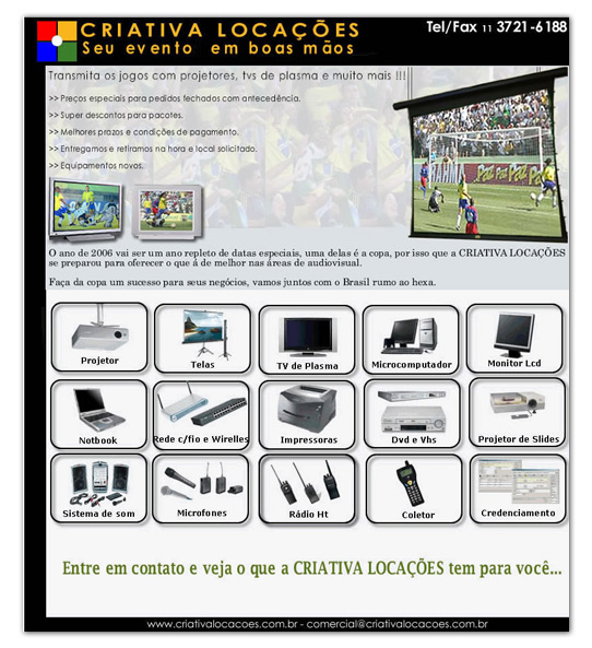 E-mail Marketing Criativa Locações Br3 Site sites cases image