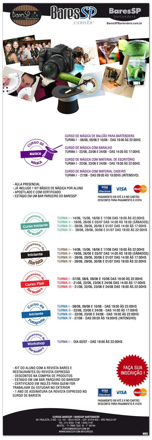 E-mail marketing de divulgação Cursos Br3 Site sites cases image