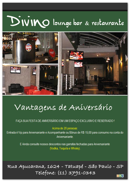 E-mail marketing de aniversário Divino  Lounge