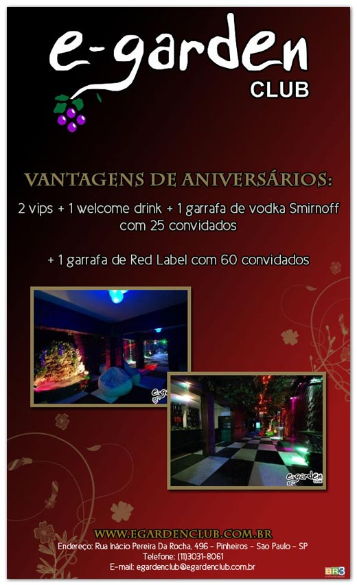 E-mail marketing de aniversário E-Garden