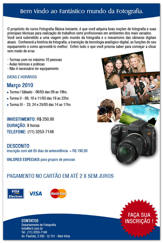 E-mail Marketing Curso Fotografia