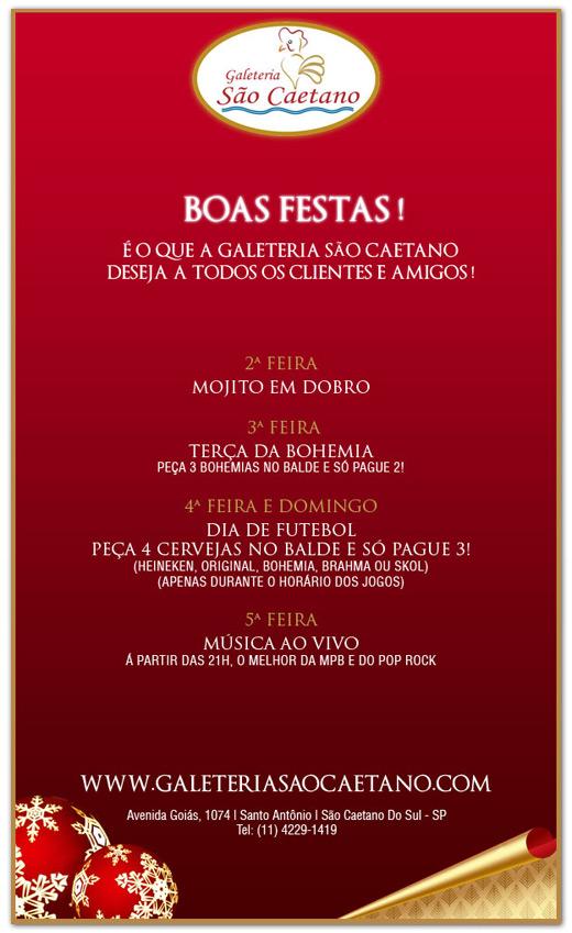 E-mail Marketing Natal - Galeteria São Caetano