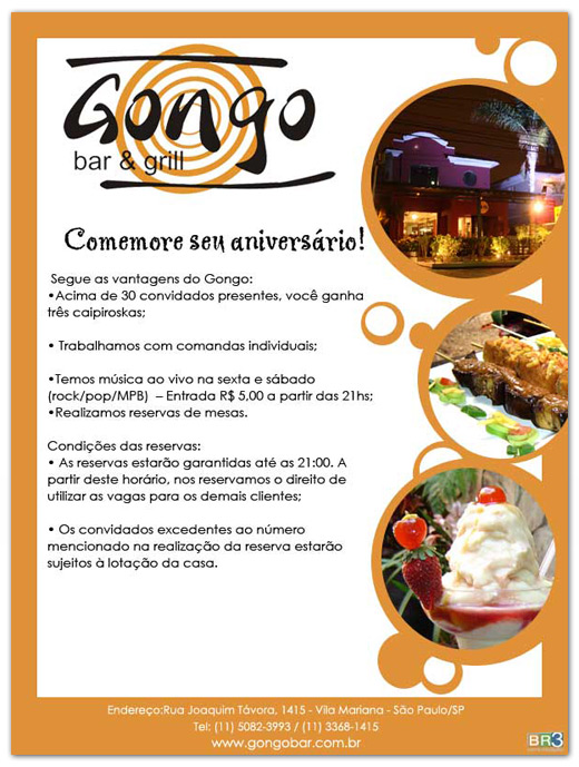 E-mail marketing de aniversário Gongo Bar