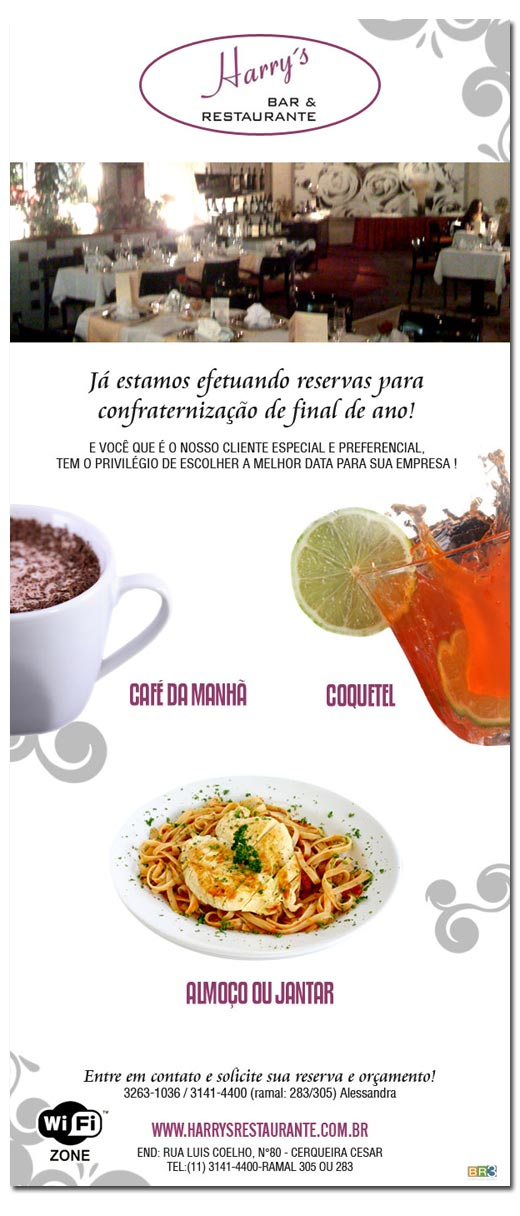 Email Marketing Harrys Restaurante Br3 Site sites cases image