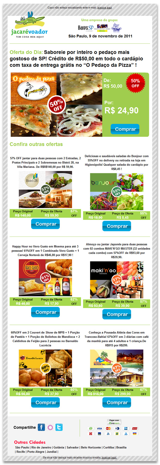 E-mail Marketing Jacaré Voador Br3 Site sites cases image