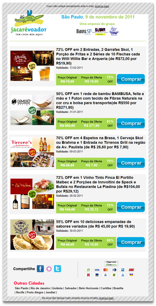 E-mail Marketing Jacaré Voador