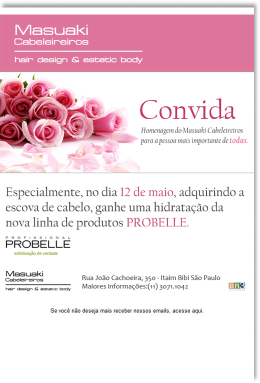 E-mail Marketing Masuaki Dia das Mães