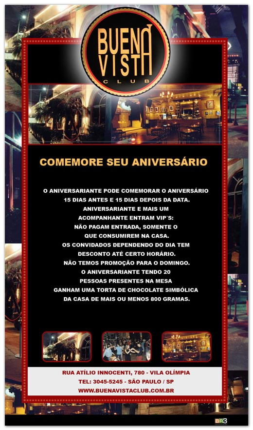E-mail marketing de aniversário Buena Vista