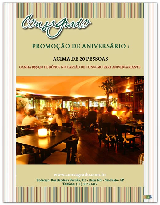 E-mail marketing de aniversário Consagrado Bar Br3 Site sites cases image