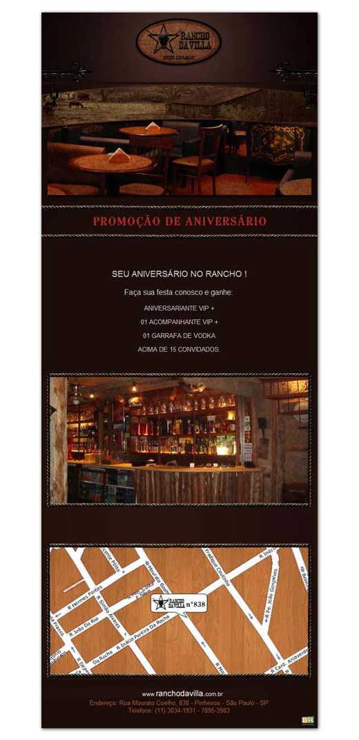 E-mail marketing de aniversário Rancho da Villa