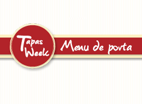 Menu de porta - Tapas Week