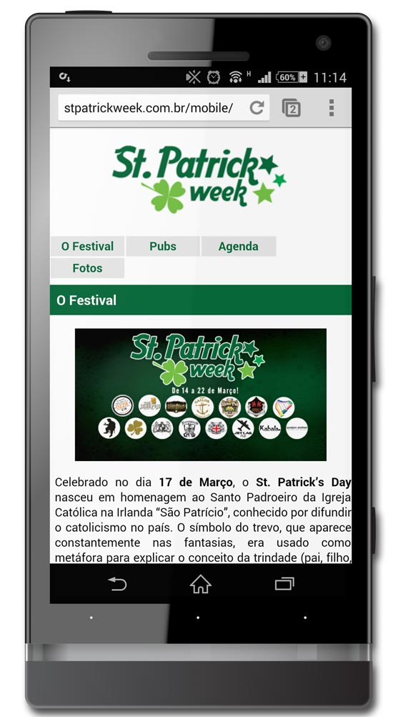 Site St. Patrick Week Mobile