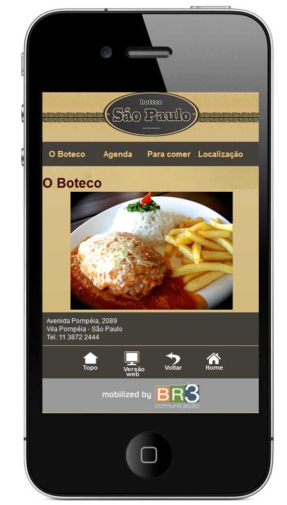 Site mobile do Boteco São Paulo Br3 Site sites cases image