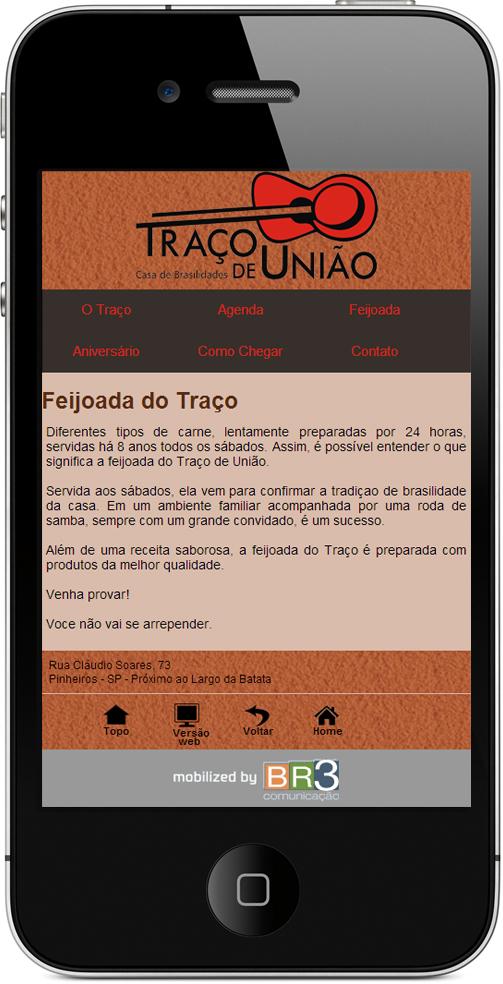 Site Mobile - Traço de União