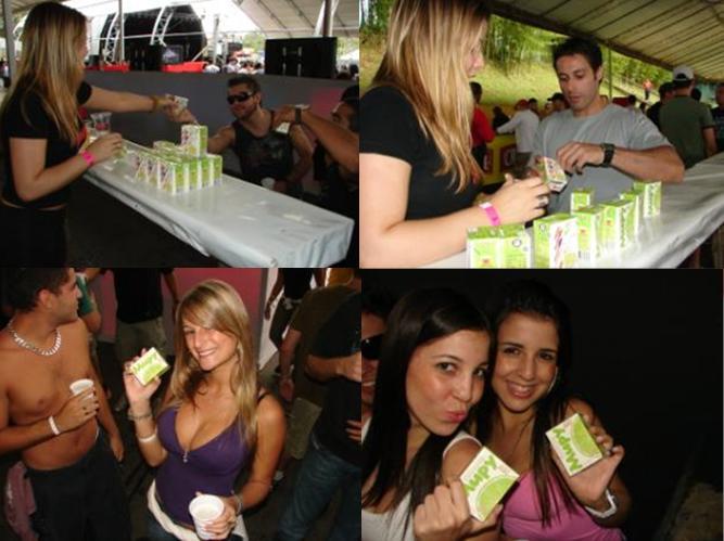 Ação de Degustação e Sampling do Mupy no Evento MetôFolia 2008