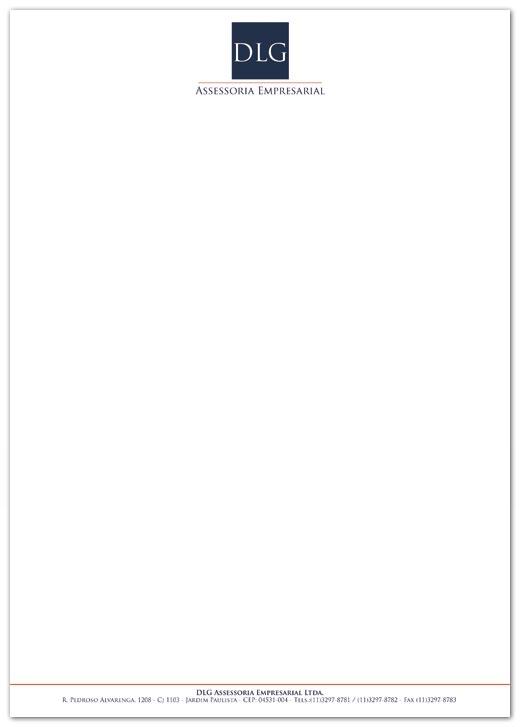 Papel-carta DLG Assessoria Empresarial