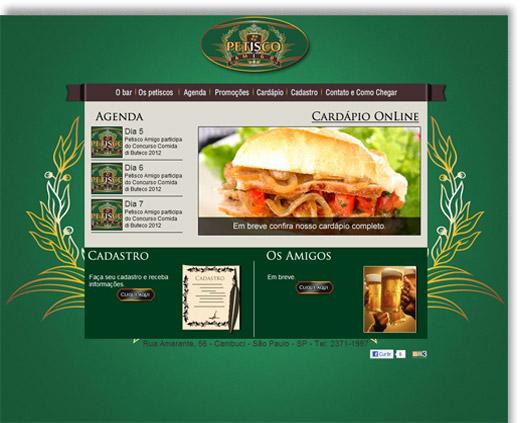 Site Petisco Amigo