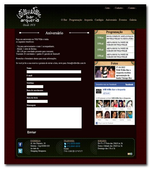 Novo site do Willi Willie
