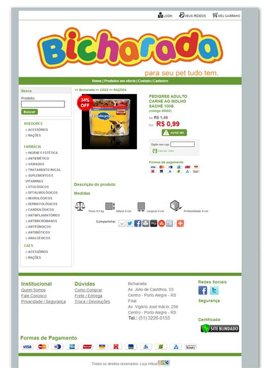 Loja Virtual - Bicharada