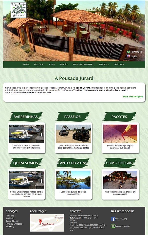 Site Pousada Jurará