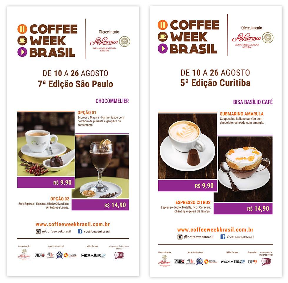 Cardápio Coffee Week Brasil