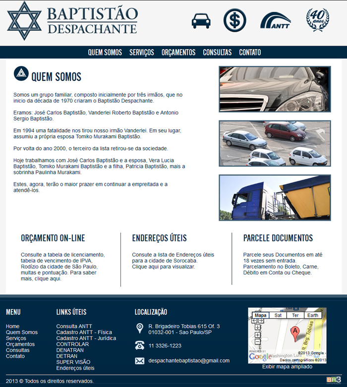 Site Despachante Baptistao