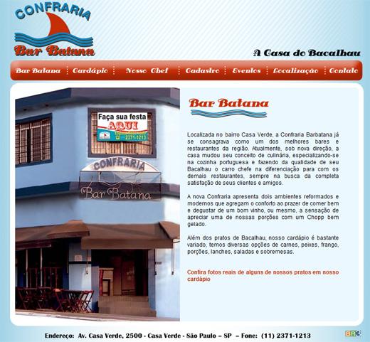 Site Confraria Bar Batana