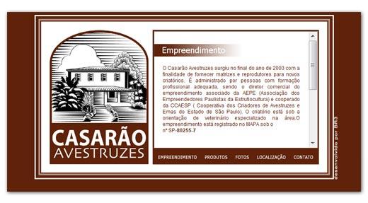 Site Casarão Avestruzes