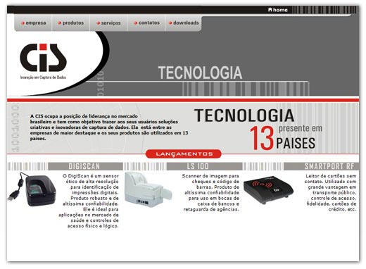 Site CIS Eletrônica Br3 Site sites cases image