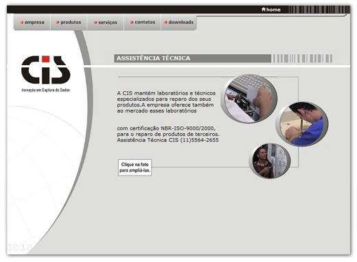 Site CIS Eletrônica