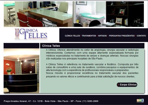 Site Clínica Telles