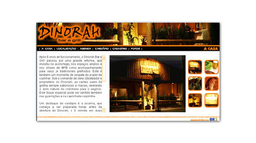 Site do Bar Dinorah