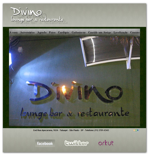 Site Divino Lounge Bar e Restaurante