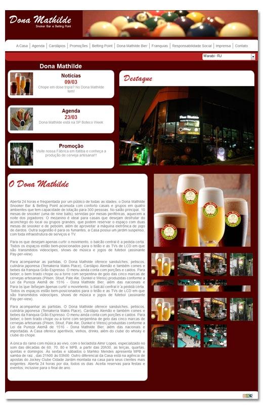 Site Dona Mathilde