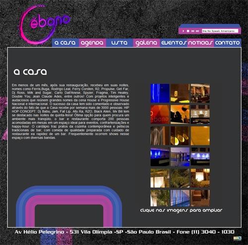 Site Ébano Bar
