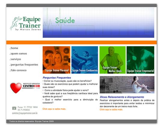 Site Equipe Trainer